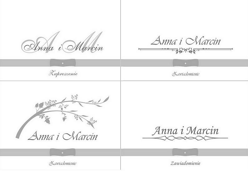 Zaproszenia ślubne Biało Amarantowe Fiocco